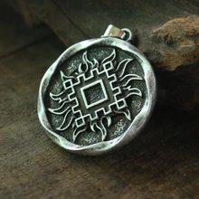 "lanseis 1pcs Slavic Amulet ""Lucky Burdock"" pendant Ancient slavic talisman jewelry pagan men necklace norse Occult Symbol charm"