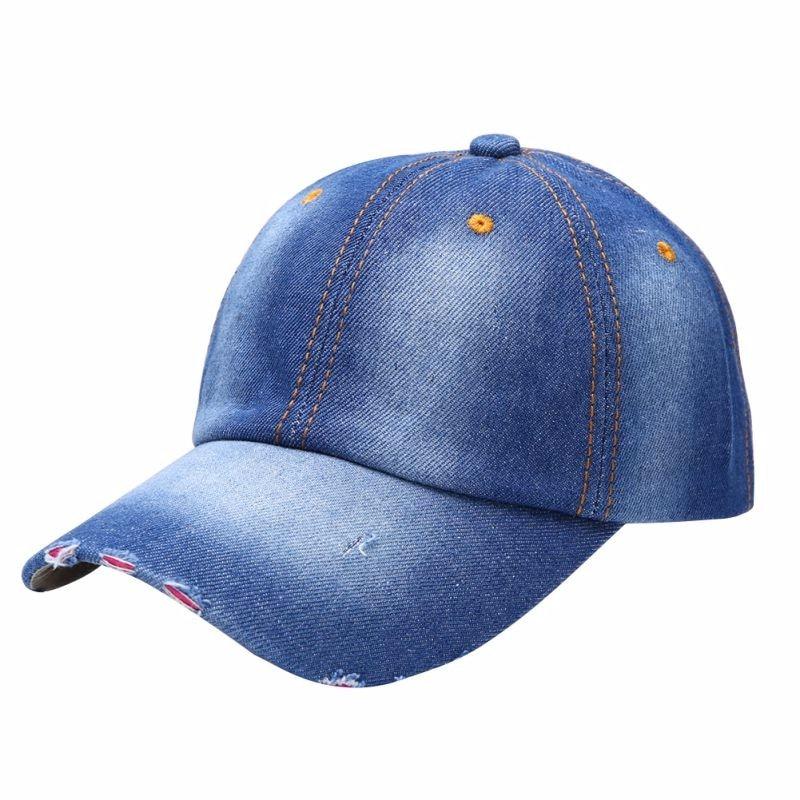 Fashion Men/'s Women/'s Jean Sport Hat Casual Denim Baseball Cap Sun Unisex Hats