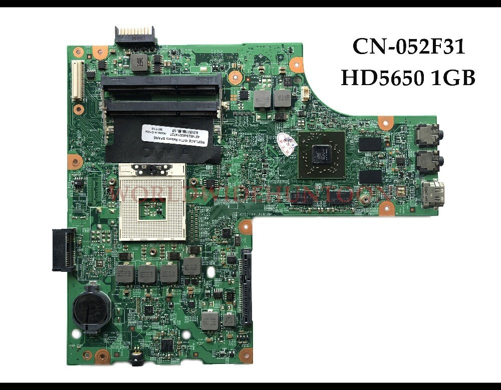 High quality CN 052F31 for Dell Insprion 15R N5010 Laptop Motherboard 48 4HH01 011 HM57 PGA989