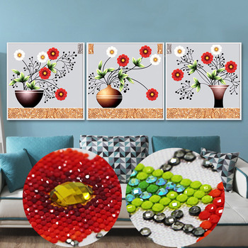 Partial special shaped diamond painting broderie diamant wall stickers muraux 5d diamond mosaic flowers hobby beaded embroidery фото