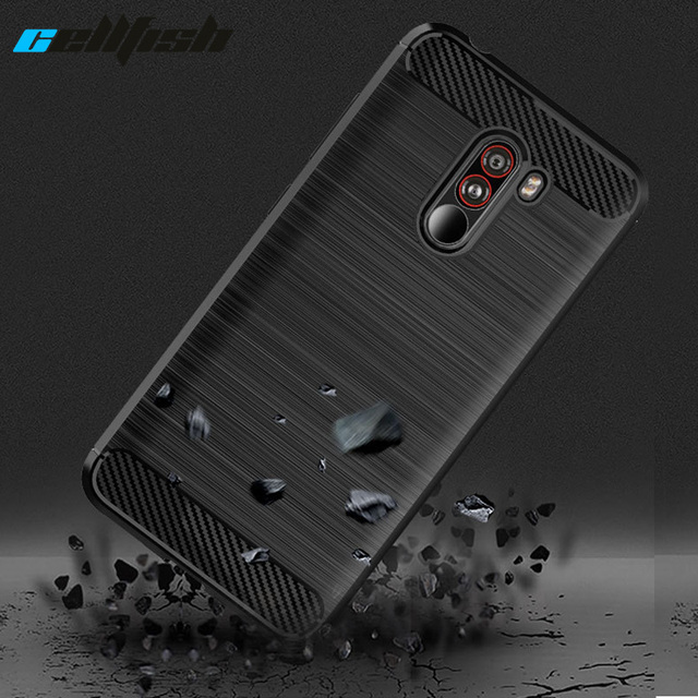 quality design 920b2 52674 US $2.18 15% OFF  Carbon Fiber Shockproof Case for Pocophone F1 Cases TPU  Silicone Mobile Phone Back Cover for Xiaomi Mi Poco F1 Case Coque -in ...
