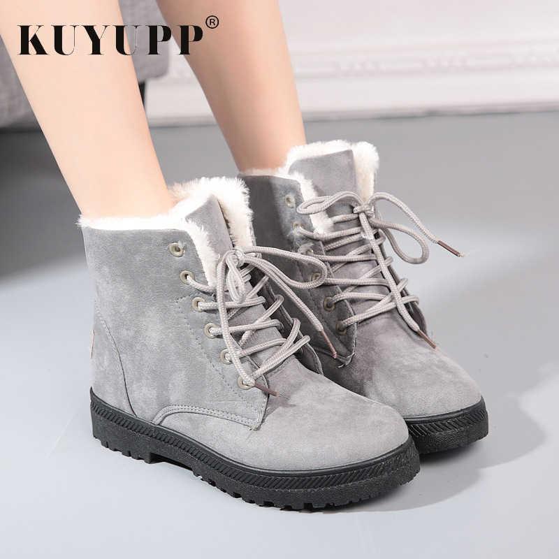 28ee772e Модные зимние ботинки, женские зимние ботильоны, женская обувь, большие  размеры 10,5