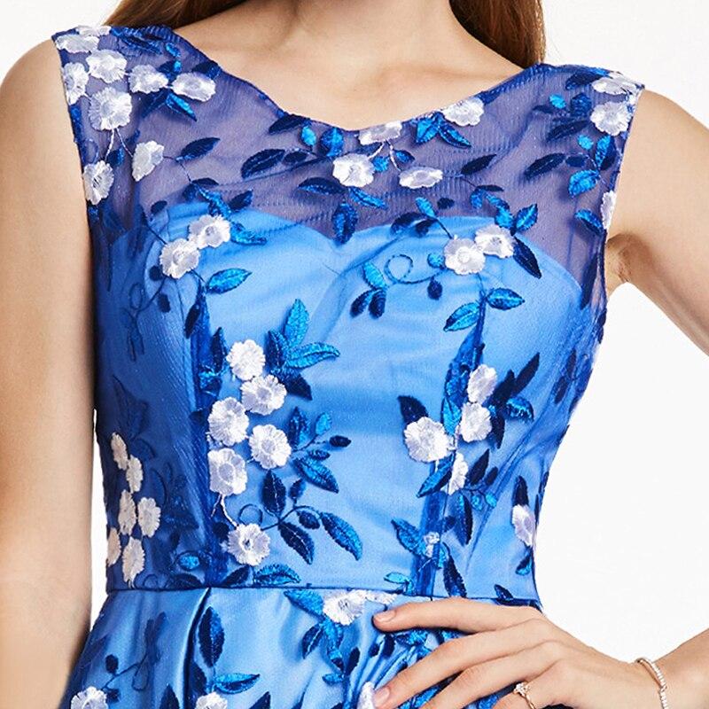 Tanpell kratka kućna haljina kraljevska plava kašičica rukava - Haljina za posebne prigode - Foto 4