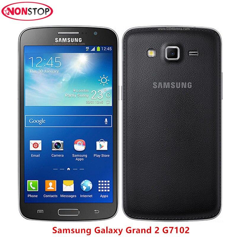 Der GüNstigste Preis G7102 Entsperrt Original Samsung Grand 2 G7102 Handy 8mp Kamera Gps Wifi Dual Sim Quad-core-handy Freies Verschiffen