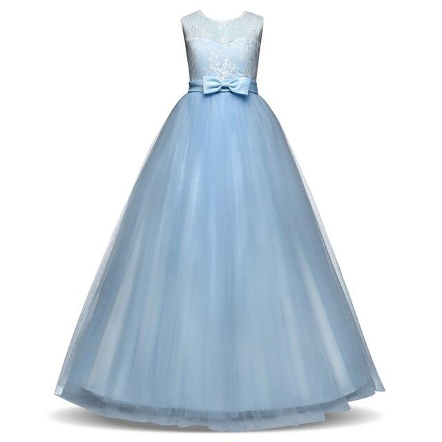 Senza maniche Abiti Lunghi per I Bambini Ragazza Bambini Flower Girl Dress  Per La Cerimonia Nuziale d9d8ba8009d
