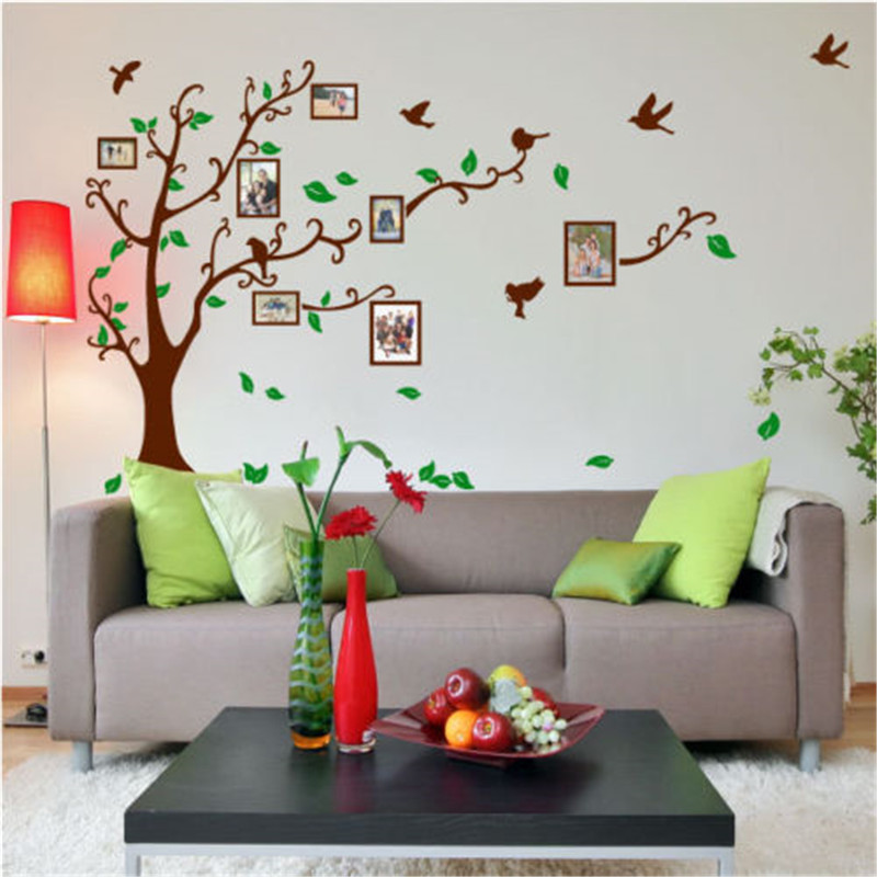 Red Dandelion Butterflies Bird Wall Stickers Double Sided Window Film Paper