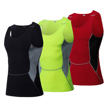 Shirt Tights Sport-Clothing Running-Vests Compression Fitness Sleeveless Outdoor Gym