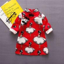 BibiCola baby girls summer dress kids girl new fashion outerwear coats infant chinese style ballet cheongsam pringt dress
