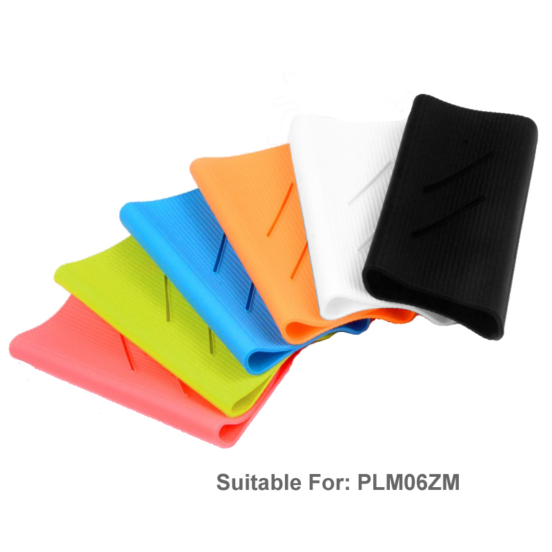 Silicone Protector <font><b>Case</b></font> Cover Skin Shell for Xiaomi Xiao <font><b>Mi</b></font> Xiomi 20000mAh <font><b>Power</b></font> <font><b>Bank</b></font> <font><b>2C</b></font> PLM06ZM Powerbank Accessories image