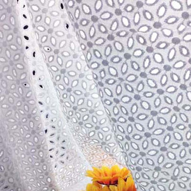 34ddfb520edd57 1Yard 91*130cm,White Cotton Voile Eyelet Embroidery Lace Fabric,Blouse  Skirt Table Cloth Skirts Patchwork Sewing Cloth Fabrics