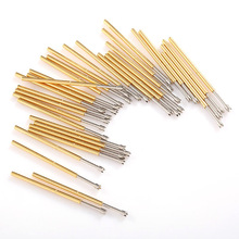 цена на 100 PCS 1.5mm Brass Spring Test Probe P100-Q2 Pin Tip Nickel Plated PCB Probe Needle Tube Diameter 1.36mm Probe Instrument