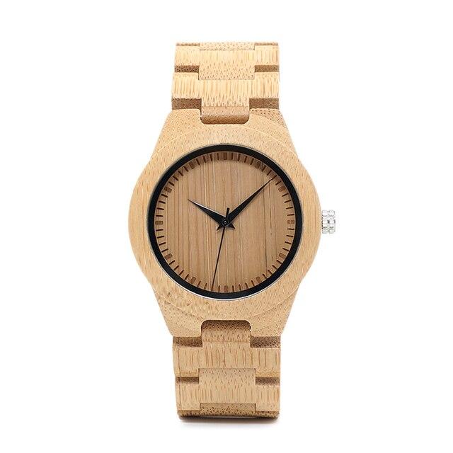 BOBO BIRD plus récent naturel plein bambou montre femmes 2035 Quartz mouvement montre-bracelet avec papier cadeau boîte relogio masculino B-L28