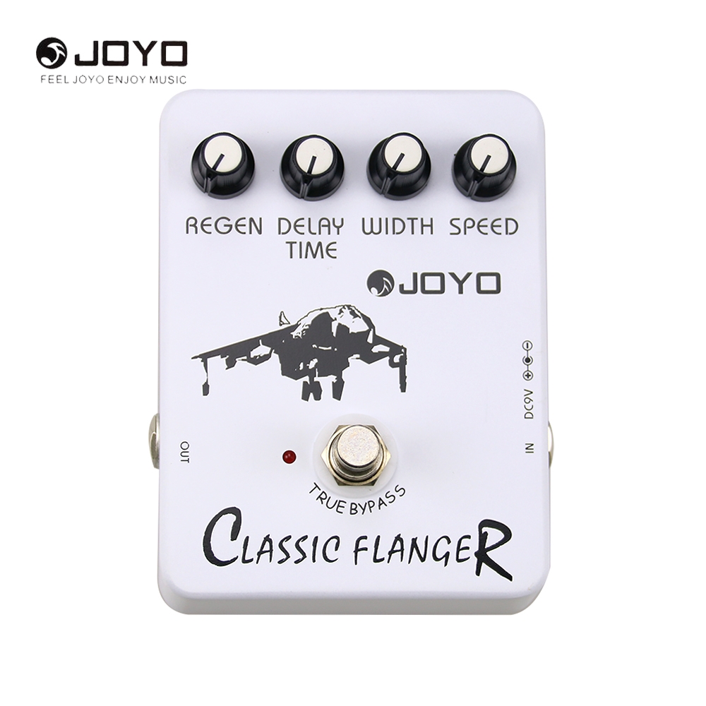 JOYO JF-07 Classic Flanger Guitar Effect Pedal Speed Regain Width Delay Time Adjustable With True Bypass цена