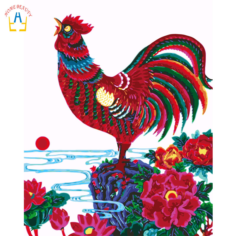 Animals Rooster Canvas Decorative Paintings For The Kitchen