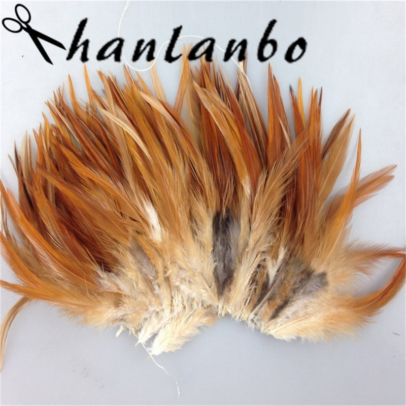 natural rooster feather Height (15-20cm) 200pcs/lot 6-8inch plumes clothing hat decor Rooster Feathers plumage fly fishing