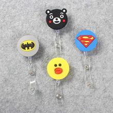 Circular Cute Girls Retractable Plastic Badge Holder Reel Student Nurse For Exhibition ID Enfermera Name Card Office Chest card