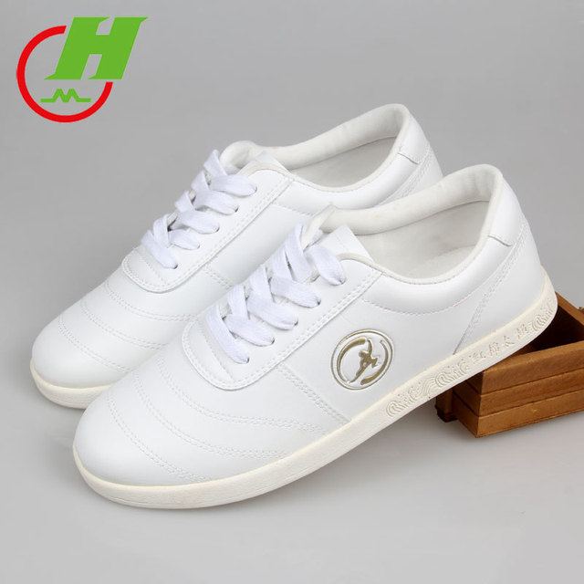 Man-made Leather  Tai Chi Shoes Martial Art Performance  Kung Fu Shoes Taiji Boxing Practice Shoes Free Flexible