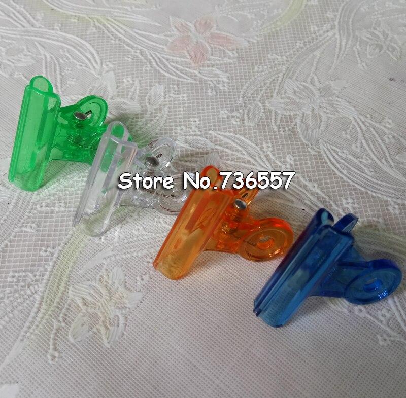 Office & School Supplies Adroit 24pcs/lot 31mm Mix Colored Plastic Round Paper Clips High Quality Transparent Kawaii Rilakkuma Series Bookmark/memo Driving A Roaring Trade