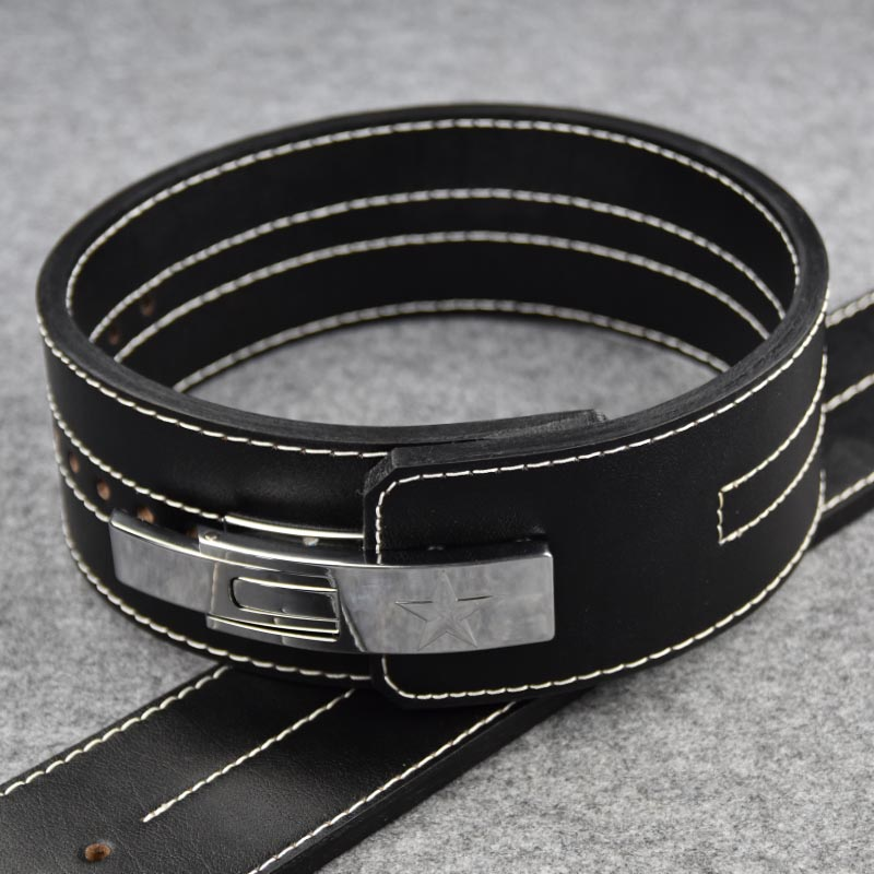 Genuine Leather 10mm Thickness Professional Weightlifting Heavy Weight Squat Training Cowhide Waist Belt For Adult