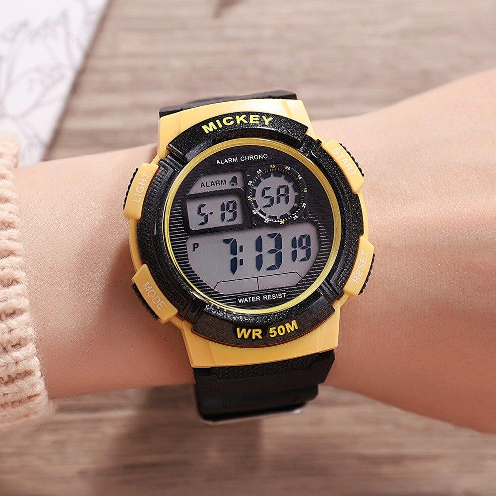 Children Girls Boys Watches Disney Brand Child Wristwatches Multifunction Waterproof Girl Boy Clocks Students Alarm Calendar