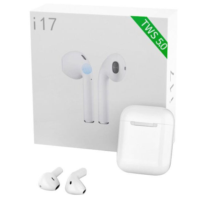 TWS I17 Wireless Touch Bluetooth Headset With Charging Bin Call Listening To Sports Headphones V5.0 Android IOS System