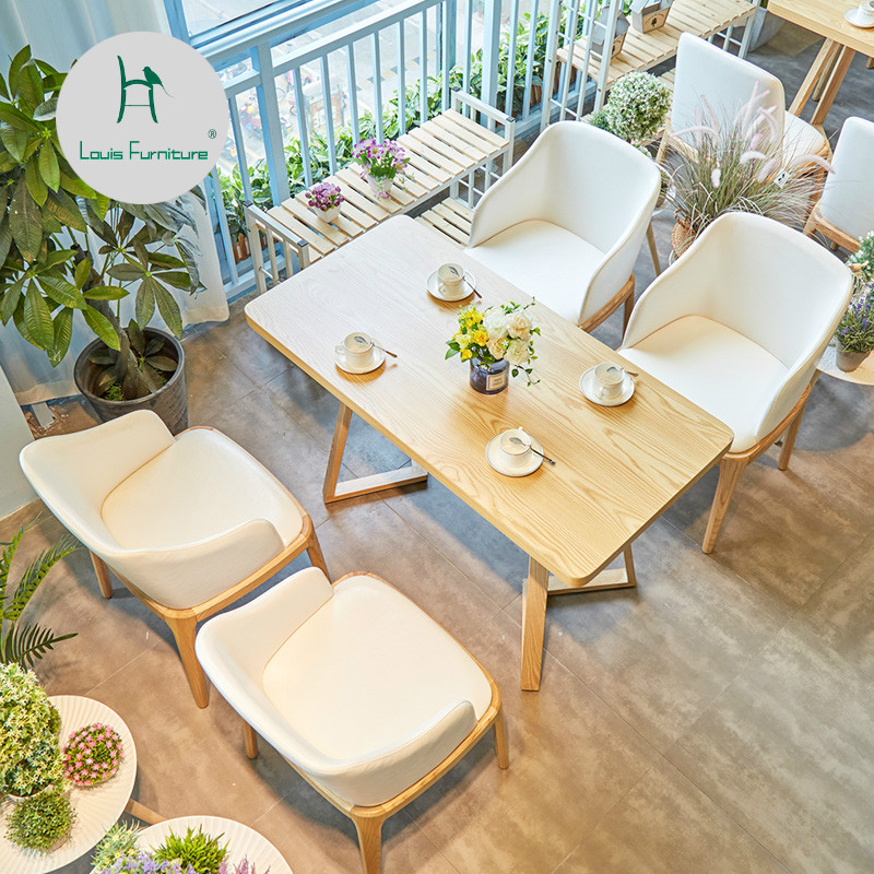 Louis Fashion Cafe Furniture Sets Japanese Style Leisure Coffee Shop Western Restaurant Solid Wood Tables And Chairs Cafe Furniture Sets Aliexpress