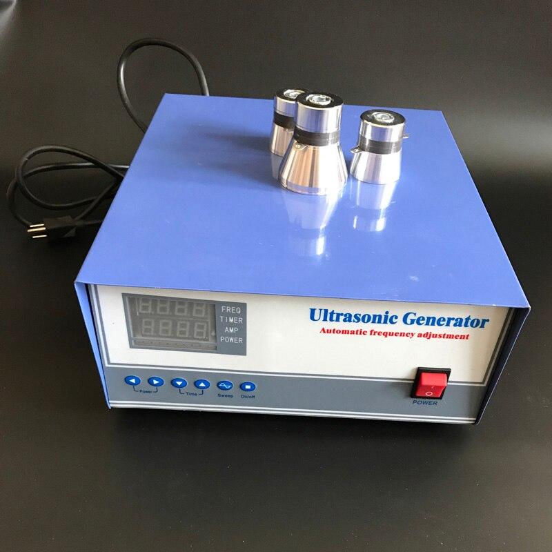 ultrasonic generator 2000W 220V 17khz 20khz 25khz 28khz 30khz 33khz 40khz with transducers ultrasonic power generator