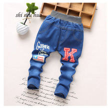 Spring and Autumn Fashion jeans children clothes 2 5 year old boys girls jeans cartoon printing