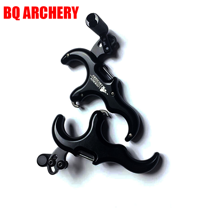 Archery 3 Finger 430 Stainless Steel Release Aid Archery Caliper Release For Compound Bow Hunting Shooting 1x elong outdoor black color archery caliper release aid compound bow strap shooting pro arrow trigger wristband free shipping