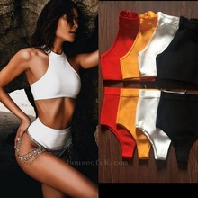 Babatique Sexy Halter Women orange black white red backless two 2 piece set Female