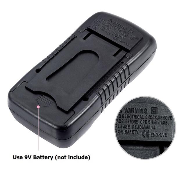 Vastar Handheld LCD Digital Multimeter 1999 XL830L AC/DC Voltage Amp Current Resistance Tester Blue Backlight Meter