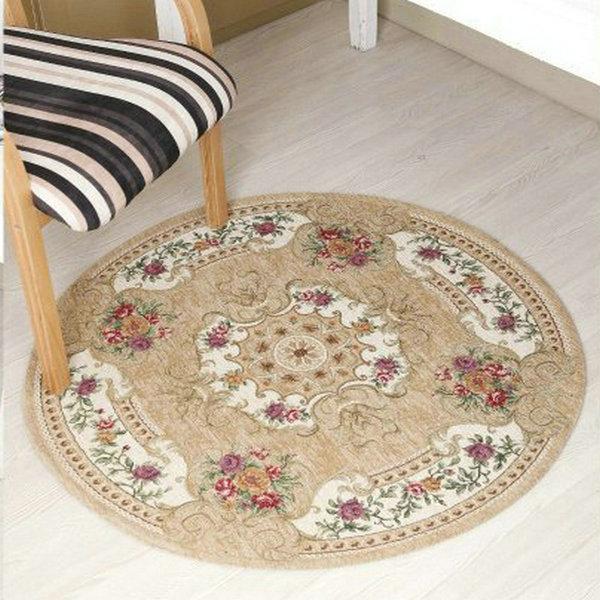 Tapis Jacquard ronds pour tapis de salon et tapis tapis de sol doux pour chambre enfants tapis de jeu tapis de prière