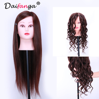 18 Inch Cosmetology Mannequin Heads Training Practice Styling Cutting Mannequin Head Natural Brown With Table
