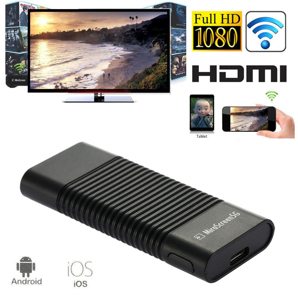 5G WiFi HDMI Display Dongle Video Adapter For iPad iPhone XS MAX XR 6 7 8 Plus Samsung S10 Plus S10e Xiaomi Huawei Android to TV