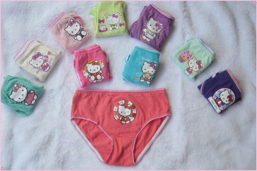 10 Pz/lotto Gils Underwear Mutandine Delle Ragazze Breve Hello Kitty Bambini Pantaloni Dei Capretti All'ingrosso Del Cotone Underwear Cartoon2 Kity
