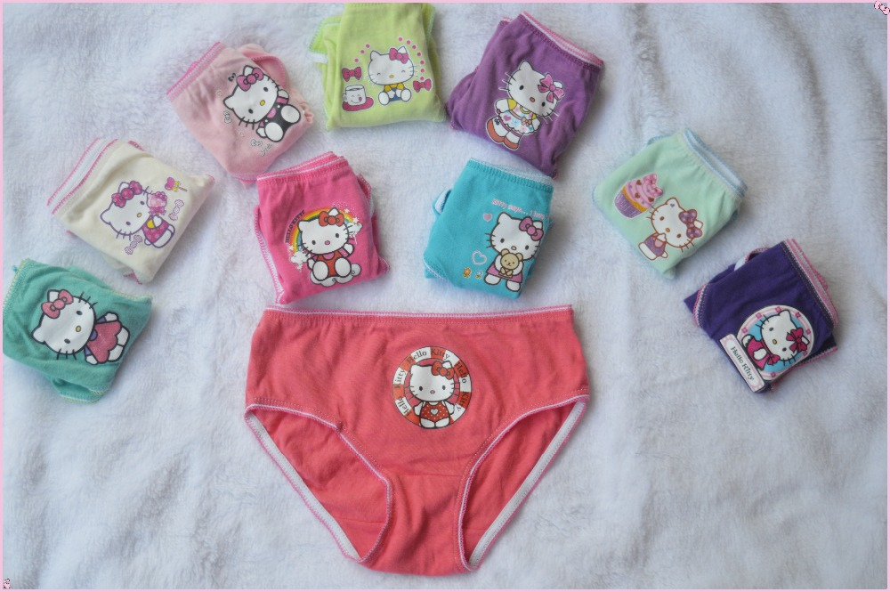 10pcs/lot gils underwear panties girls brief hello kitty kity children pants kids pants  ...