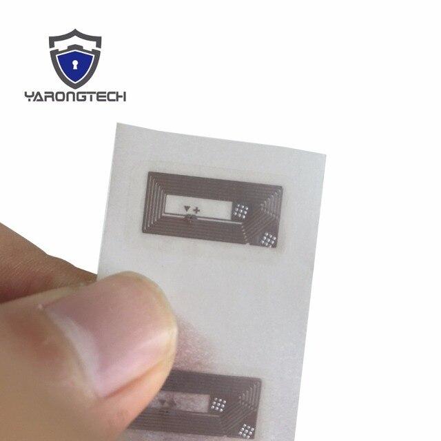 Nfc etiqueta pequena 13.56mhz 12x22mm transparente ntag213 adesivo 15 pçs/lote