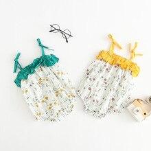 Infant Baby Floral Patchwork Summer Ins Halter Sweet Girls