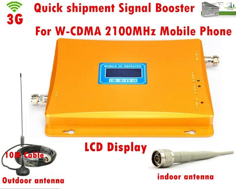 Amplificateur de Signal LCD 3G W-CDMA! Amplificateur de amplificateur de téléphone portable GSM 2100 amplificateur de Signal cellulaire répéteur GSM 3G avec antenne 3G