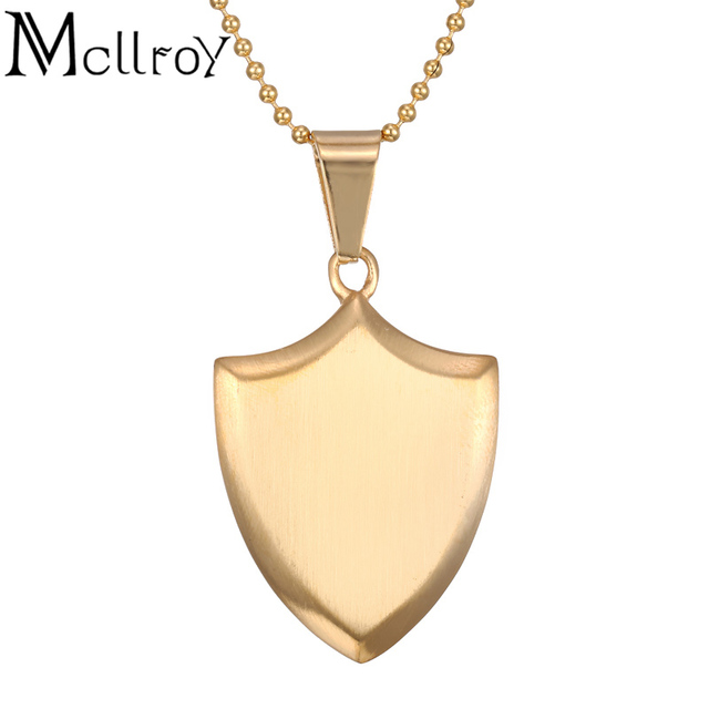 Mcllroy necklace protect me saint shield protection charm retro mcllroy necklace protect me saint shield protection charm retro couple pendants necklaces shield pendant jewelry for aloadofball Choice Image