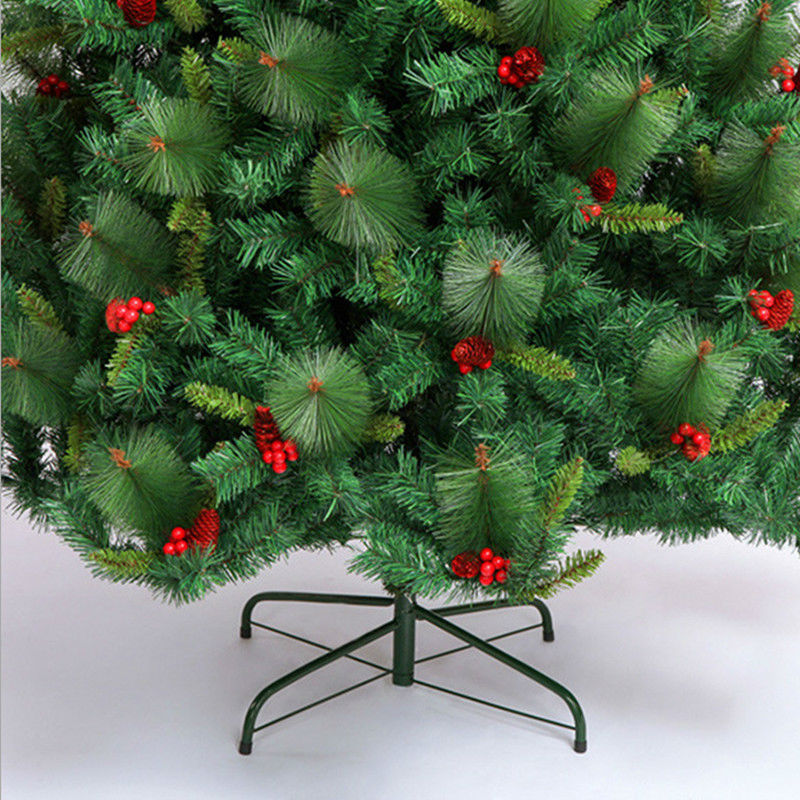 24 m 240cm luxury encryption christmas tree red pine cones red berries auto mall bar decorated hotel in christmas from home garden on aliexpresscom - Christmas Tree With Pine Cones