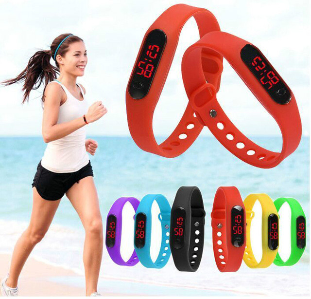купить Reloj Mujeres Women LED Digital Silicone Date Kids Watch Adjustable length Silicone Running Sport  Watch Masculino Montre Femme недорого