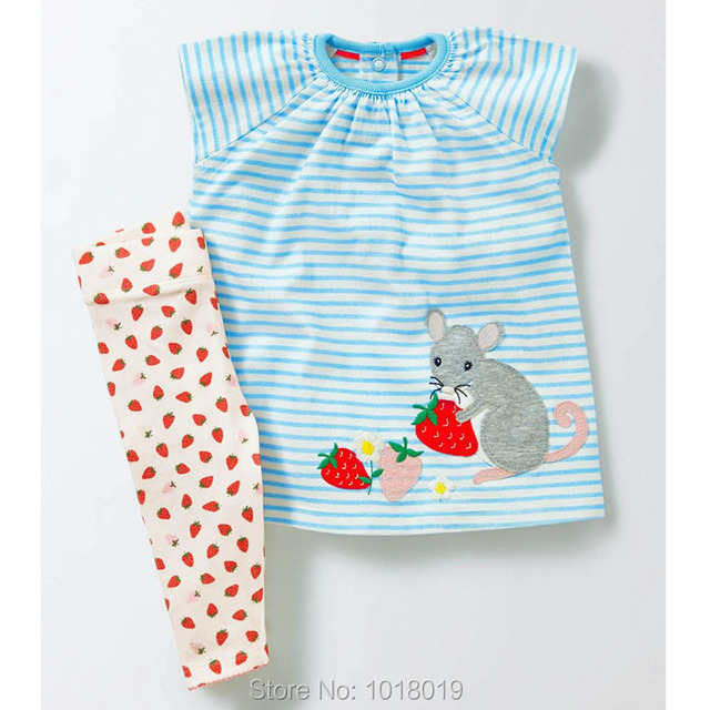 40dd802806 New 2019 Summer Baby Girl Clothes Set Brand Quality 100% Cotton Children  Kids Short Sleeve Dress Legging Clothing Set Bebe Girls