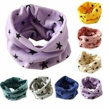Коллекция года, осенне-зимняя детская футболка с кольцом и шарфом для мальчиков и девочек, воротник с сердечком, звезда, шарф с бабочкой, хлопковые шейные шарфы с круглым кольцом