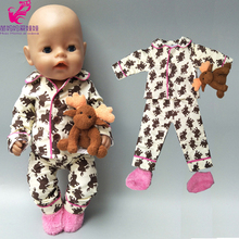 New Born Baby Doll Sleeping Clothes Sets 18 Inch American Do