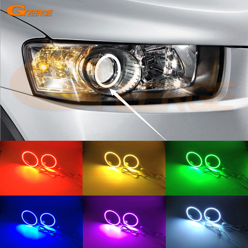 For Chevrolet Captiva 2012 2013 2014 2015 2016 Excellent Angel Eyes Multi-Color Ultra bright RGB LED Angel Eyes kit halo rings for lifan 620 solano 2008 2009 2010 2012 2013 2014 excellent angel eyes multi color ultra bright rgb led angel eyes kit