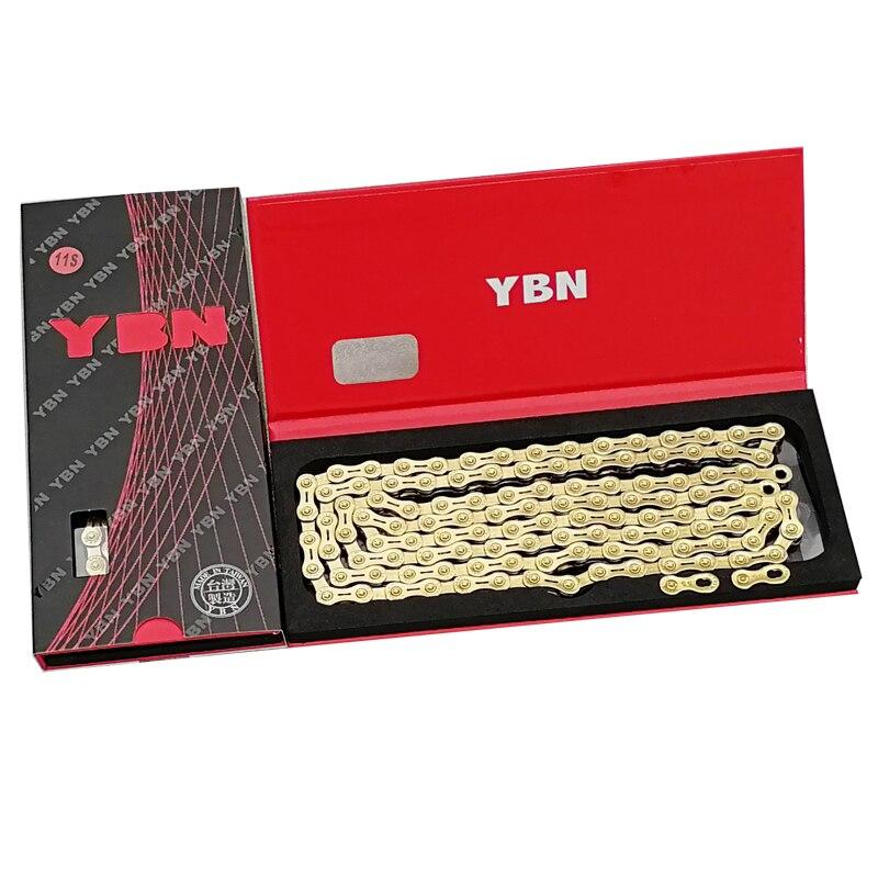 Chaîne de vélo de route YBN 11 vitesses 116L vtt pour chaîne de vélo creuse en or shimano sram campagnolo