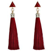 Triangle Metal Tassel Earrings