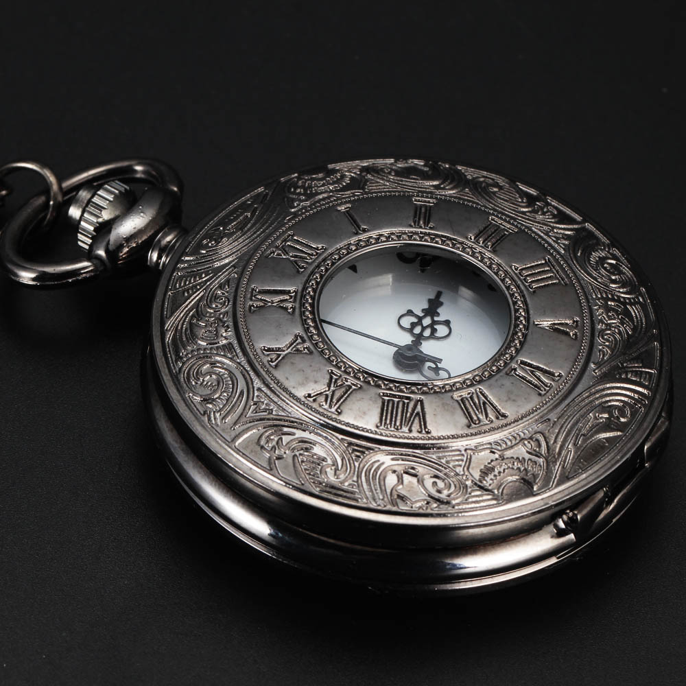 2016 New Top Sale Gun Black Roman Numerals Vintage Watch Quartz Pocket Watch With Chain Pendant Necklace Gift sitemap 57 xml