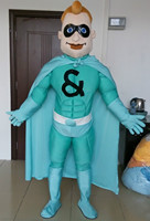 adult super hero mascot costume